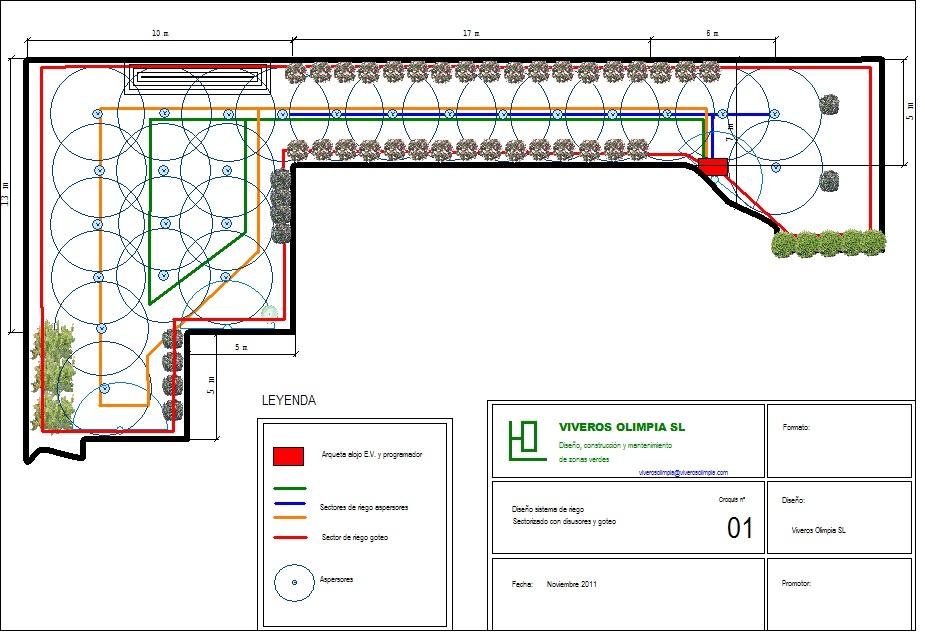 Sistemas de riego viveros olimpia sevilla for Sistema de riego jardin vertical