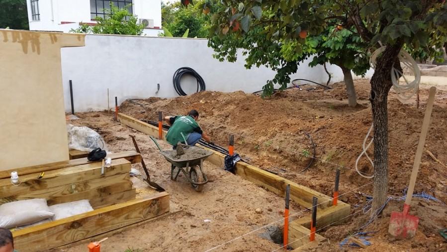 Construcción de jardín en Palomares